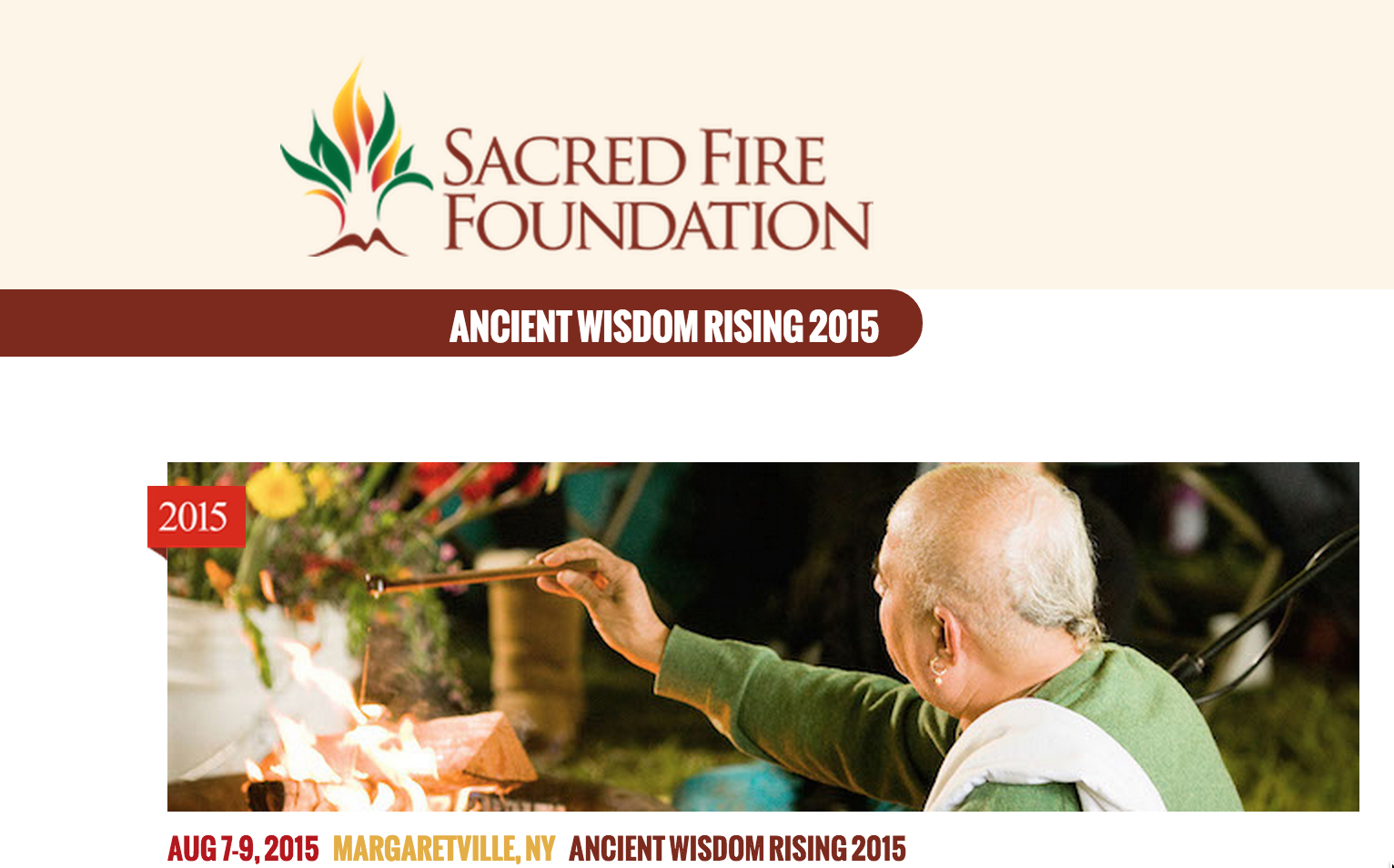 Sacred Fire Rising 2015